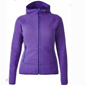 Berghaus Zip Up Purple Fleece Hooded Jacket